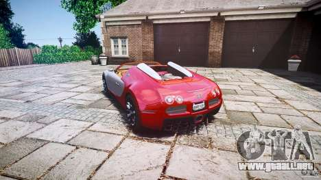 Bugatti Veyron Grand Sport [EPM] 2009 para GTA 4 vista interior
