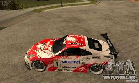 Nissan 350Z Xanavi para GTA San Andreas left