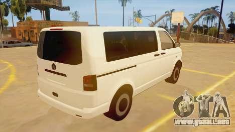 Volkswagen Transporter T5 Facelift 2011 para la visión correcta GTA San Andreas