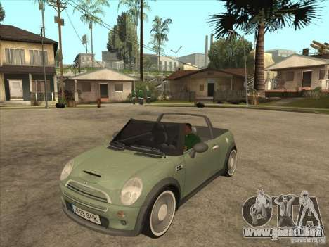 Mini Cooper S Cabrio para GTA San Andreas left