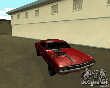 Dodge Challenger 1971 TeamGo para la visión correcta GTA San Andreas