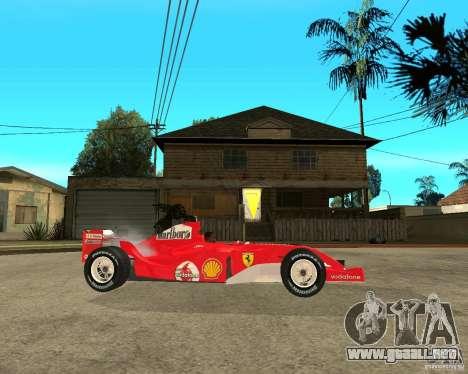 Ferrari F1 para la visión correcta GTA San Andreas