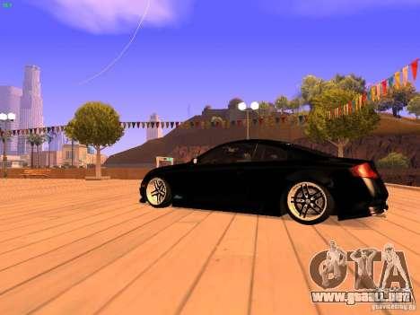 Infiniti G35 V.I.P para GTA San Andreas vista posterior izquierda