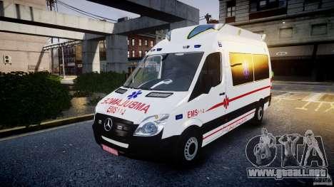 Mercedes-Benz Sprinter Iranian Ambulance [ELS] para GTA 4