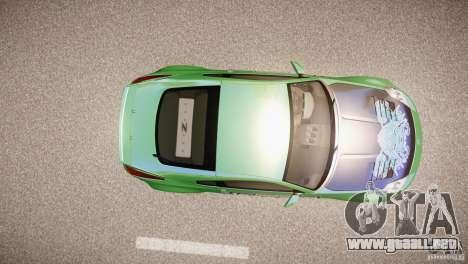 Nissan 350Z Underground 2 Style para GTA 4 vista hacia atrás