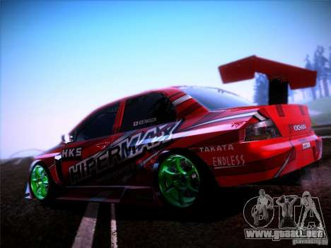 Mitsubishi Lancer Evolution 9 Hypermax para GTA San Andreas left