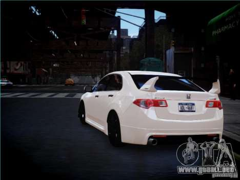 Honda Accord Mugen para GTA 4 visión correcta