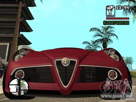 Alfa Romeo 8C Competizione v.2.0 para la visión correcta GTA San Andreas