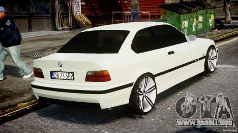BMW e36 M3 para GTA 4 vista lateral