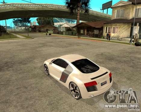 Audi R8 light tunable para GTA San Andreas left