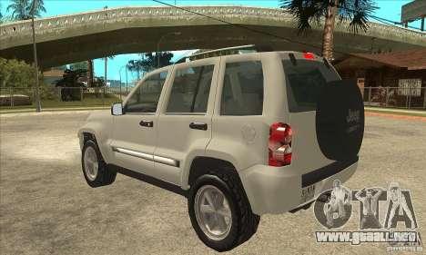 Jeep Liberty 2007 Final para GTA San Andreas vista posterior izquierda