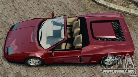 Ferrari Testarossa Spider custom v1.0 para GTA 4 visión correcta