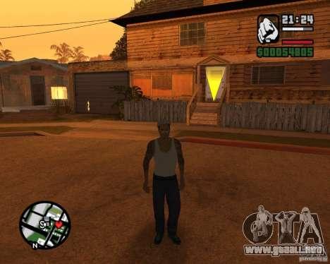 CJ Gopnik para GTA San Andreas segunda pantalla
