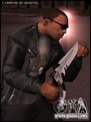 Dragon Lord knife para GTA San Andreas segunda pantalla