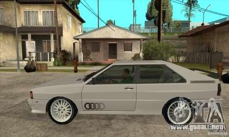 Audi Quattro para GTA San Andreas left