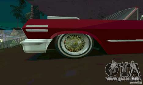 Chevrolet Impala 1963 Lowrider Charged para GTA San Andreas left