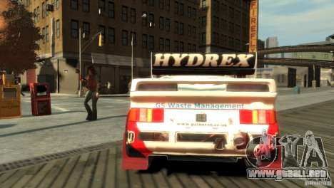 Ford RS200 Evolution Rallycross para GTA 4 Vista posterior izquierda