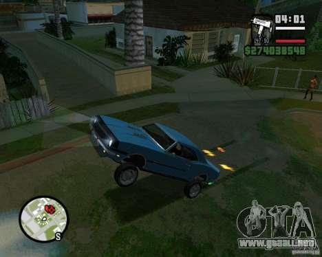 Capacidad para levantar el coche para el dólar para GTA San Andreas quinta pantalla