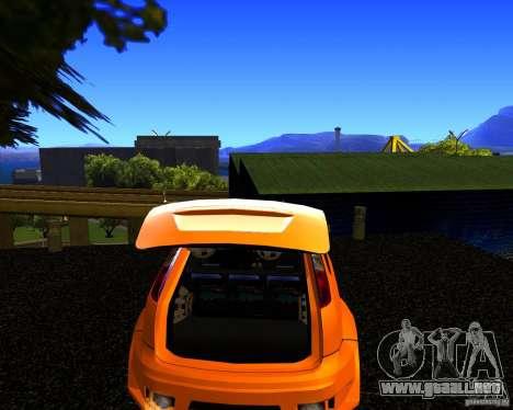 Ford Focus ST Racing Edition para GTA San Andreas vista posterior izquierda