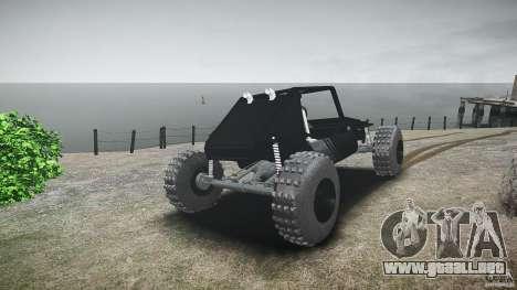 Buggy beta para GTA 4 Vista posterior izquierda