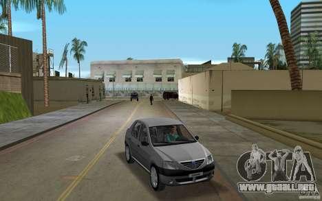 Dacia Logan 1.6 MPI para GTA Vice City vista posterior