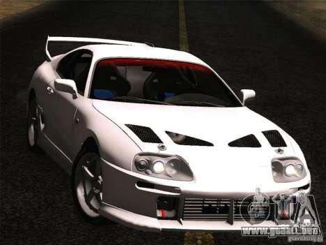 Toyota Supra TRD3000GT v2 para la visión correcta GTA San Andreas