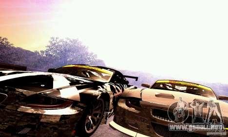BMW Z4 E85 M GT 2008 V1.0 para la vista superior GTA San Andreas
