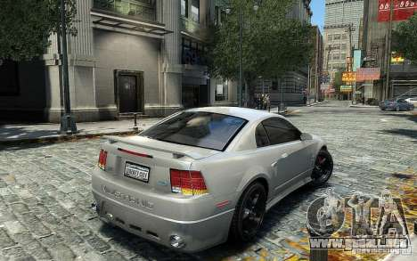 Ford Mustang Cobra R para GTA 4 visión correcta