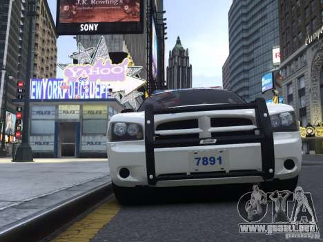 Dodge Charger NYPD para GTA 4 left