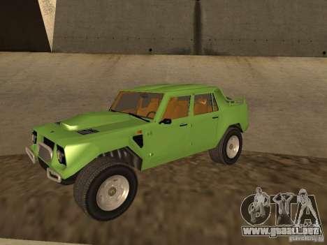 Lamborghini LM-002 v2 para visión interna GTA San Andreas