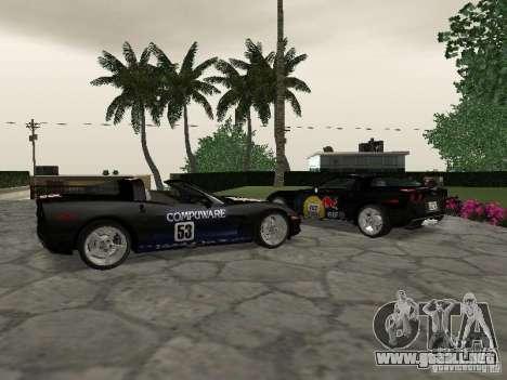 Chevrolet Corvette (C6) para visión interna GTA San Andreas