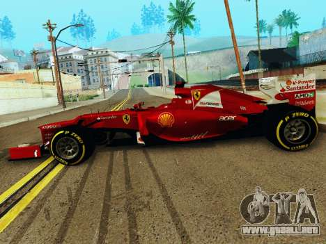 Ferrari F2012 para GTA San Andreas left