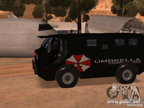 AM 7.0 Umbrella Corporation para GTA San Andreas left