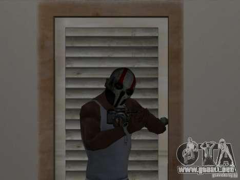 Army of Two Mask Skull para GTA San Andreas segunda pantalla