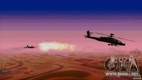 Trampas de calor para Hunter para GTA San Andreas sucesivamente de pantalla