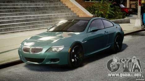 BMW M6 2010 v1.5 para GTA 4 vista hacia atrás