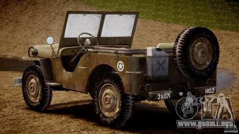 Jeep Willys [Final] para GTA 4 visión correcta