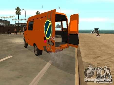 Patrulla gacela 2705 para la visión correcta GTA San Andreas
