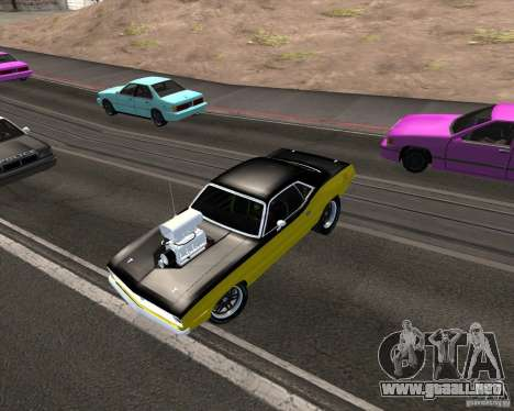 Plymouth Hemi Cuda 440 para vista inferior GTA San Andreas