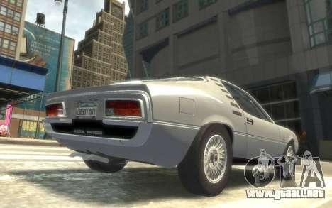 Alfa Romeo Montreal 1970 para GTA 4 Vista posterior izquierda