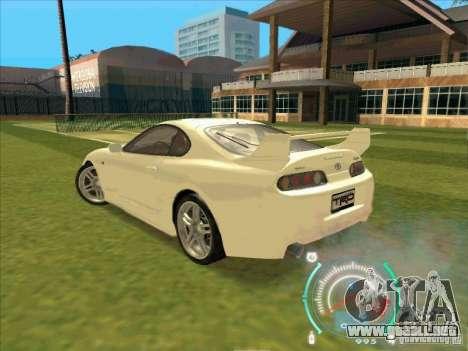 Toyota Supra from 2 Fast 2 Furious para la visión correcta GTA San Andreas