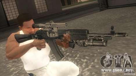 AK-47 v2 para GTA San Andreas quinta pantalla