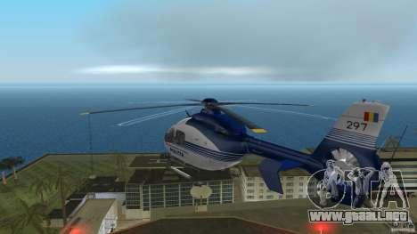 Eurocopter Ec-135 Politia Romana para GTA Vice City vista posterior