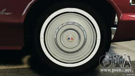 Dodge Monaco 1974 v1.0 para GTA 4 interior
