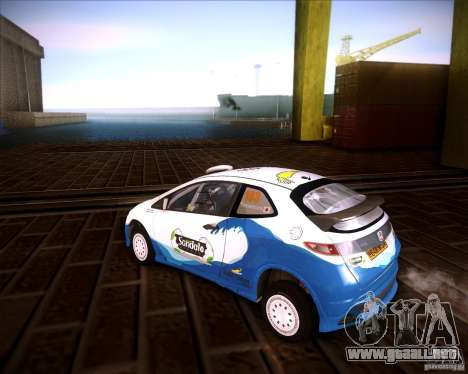 Honda Civic Type-R (Rally team) para GTA San Andreas left