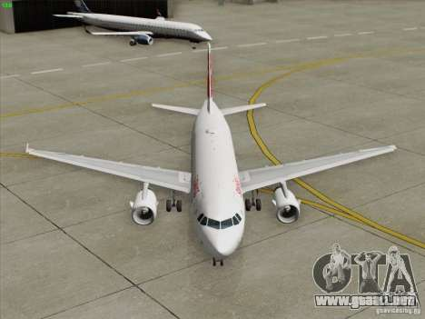 Airbus A319-112 Swiss International Air Lines para vista inferior GTA San Andreas