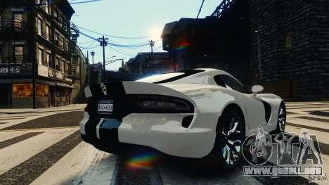 Dodge Viper GTS 2013 para GTA 4 Vista posterior izquierda
