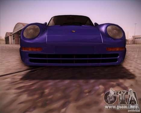 Porsche 959 1987 para visión interna GTA San Andreas