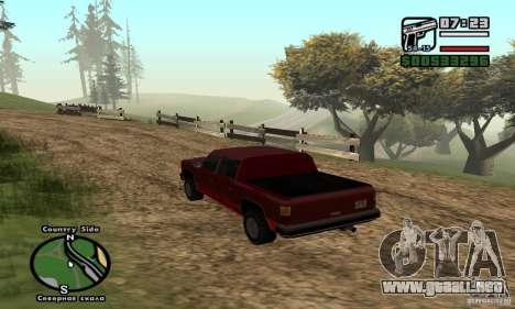 Rancher 4 Doors Pick-Up para GTA San Andreas vista posterior izquierda