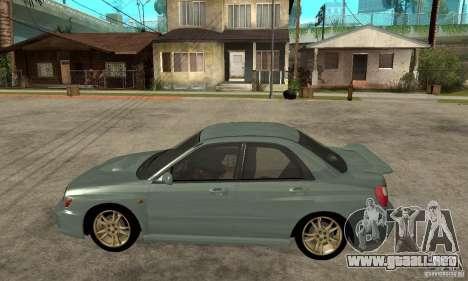 Subaru Impreza 2002 Tunable - Stock para GTA San Andreas vista posterior izquierda